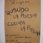 """""""Quando la poesia colora la pittura"""""""
